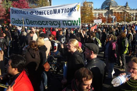 Photo of Video- European Awakening- Anti-capitalist demos in Germany