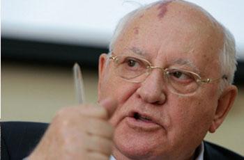 Photo of Gorbachev likens Wall Street scenes to USSR's