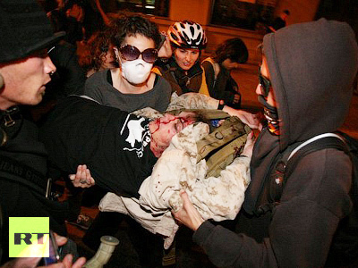 Photo of Video- Occupy Oakland: Tear gas & flashbang grenades