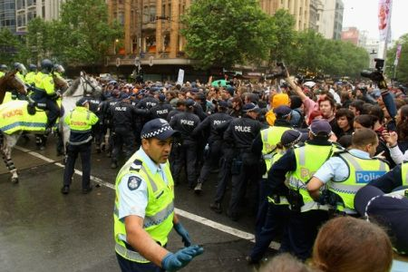 Photo of Anti-capitalism protests repressed in Australia