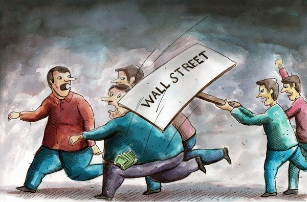 Photo of Caricature- Wall Street Protest