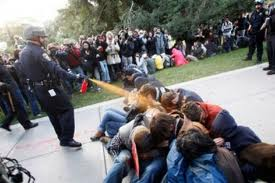 Photo of Video- California students protest use of pepper spray