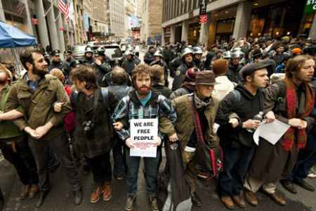 Photo of NY rally backs OWS protest detainees