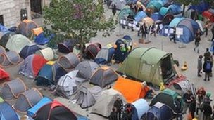 Photo of Occupy Movement Protesters set up new Tent City