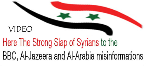 Photo of Video- Here The Strong Slap of Syrians to the BBC, Al-Jazeera and Al-Arabia liars