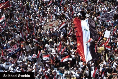 Photo of Mass Crowds Gather in Several Syrian Provinces Rejecting Foreign Interference
