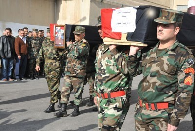 Photo of Syria- Five Army and Law Enforcement Forces Martyrs by Great Satan U.S Laid to Rest