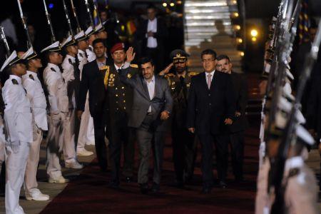 Photo of Iran's president arrives in Venezuela