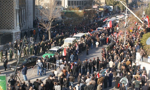 """Photo of Crowds Condemn Terrorist Attack, Syria to Respond with """"Iron Fist"""""""