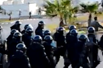 Photo of Protesters in Morocco clash with security forces