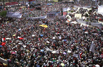 Photo of Islamic Awakening: Egyptians gather in protest outside US Embassy in Cairo