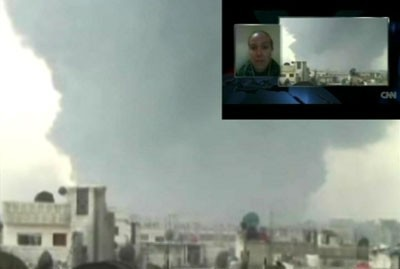 Photo of New Syrian TV Footage Exposes CNN Falsification and Coordination with Terrorists in Homs