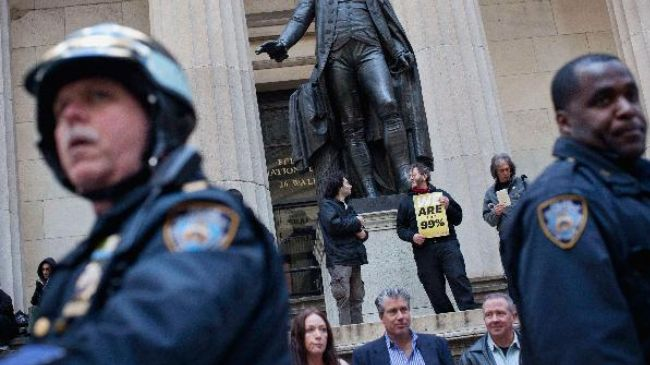 Photo of American Awakening- Occupy Wall Street protesters stage rally in front of NYSE
