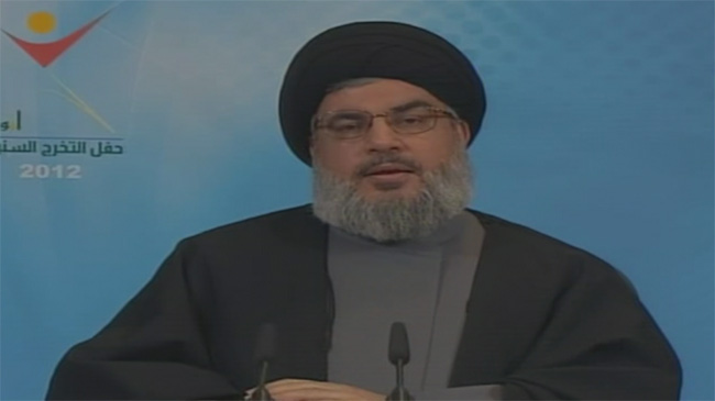 Photo of Seyyed Hassan Nasrallah calls for political solution to Syrian crisis