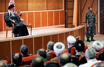 Photo of The Leader of Islamic Ummah and Oppressed People Imam Sayyed Ali Khamenei inspects Army' base