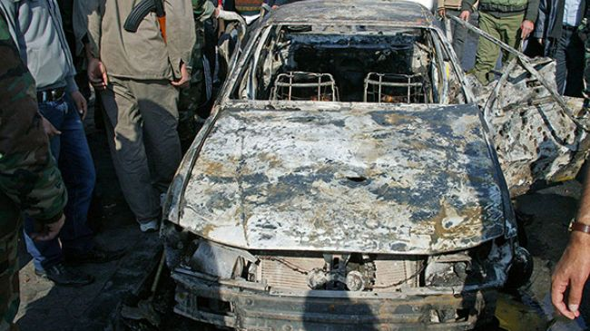 Photo of Foreign-backed Terorists axis car bomb explodes near Iran's cultural office in Syrian capital