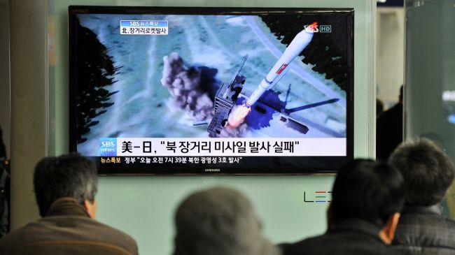 Photo of North Korean rocket disintegrates after launch