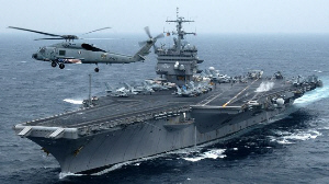Photo of US Aircraft Carriers under the Eyes of Iran