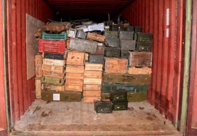 Photo of Huge Amount of Weapons Aboard Italian Ship in North Lebanon