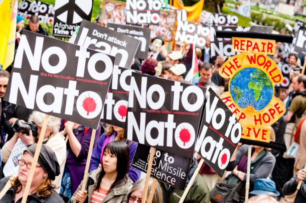 Photo of British Anti-War Activists Stage Rally Outside US Embassy in London