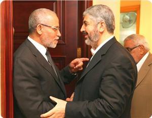 Photo of Mishaal meets with Badie and Ihsanoglu in Cairo