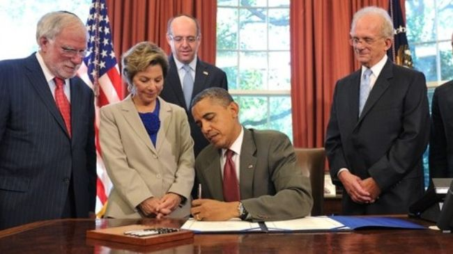 Photo of Obama signs $70 million Israel military aid bill