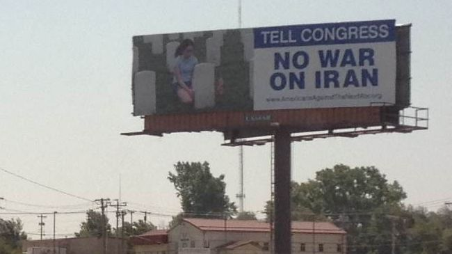 Photo of US activists in Oklahoma City call for 'No War On Iran'