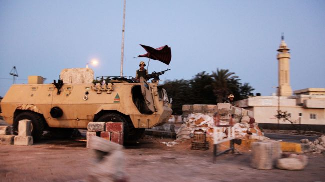 Photo of Egyptian forces clash with armed militants in Sinai
