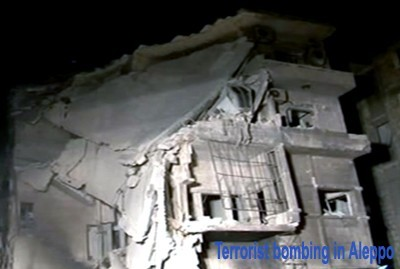 Photo of Yesterday's Terrorist Bombing in Aleppo Claimed 30 Lives Including Women and Children