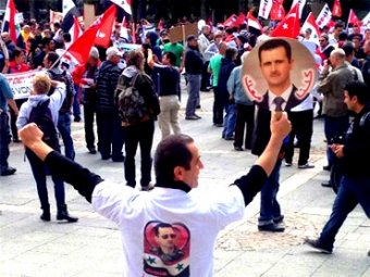 Photo of Frankfurt protests against military intervention in Syria