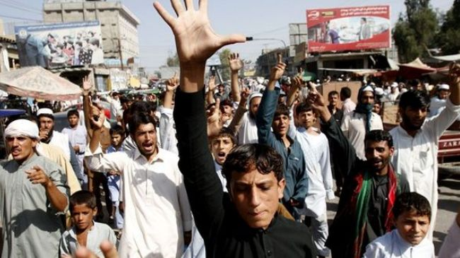 Photo of Afghan students rally in Kabul against US-made anti-Islam movie