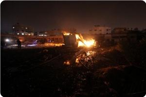 Photo of Large damage in four Zionist Slaughterer Israeli airstrikes on Gaza
