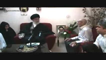 Photo of Video- The Leader of Islamic Ummah and Oppressed People Imam Sayyed Ali Khamenei Visit Martyr Family in Bojnour