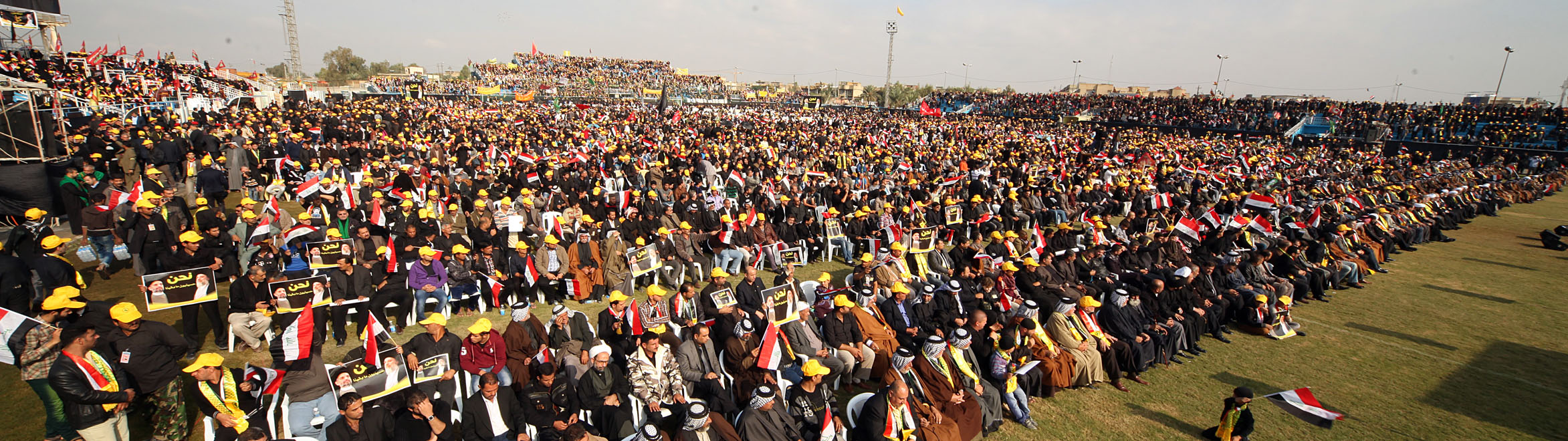 """Photo of Sayyid Ammar al-Hakim: """"We are followers of Hussain not just by name but by spirit"""
