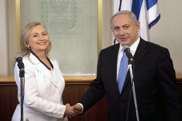 "Photo of zionist American's Clinton Vows: Commitment to ""Israeli"" Security Rock Solid"