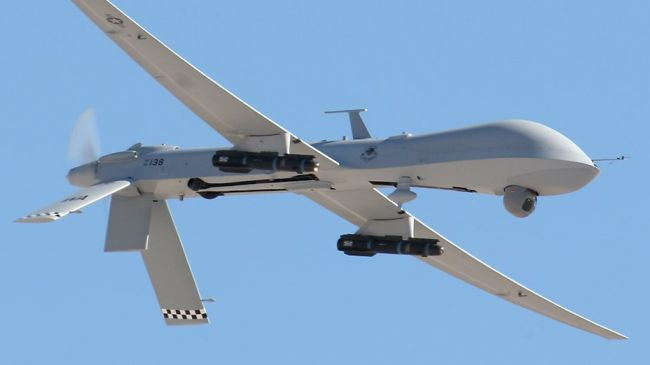 Photo of US-led spy drone crashes in western Afghanistan