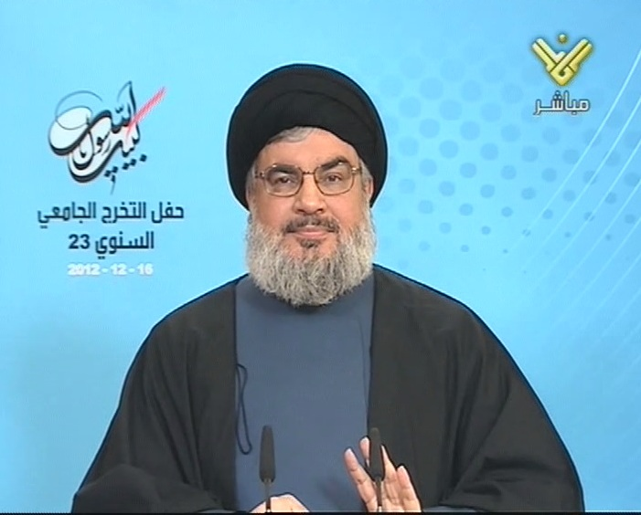 Photo of Sayyed Nasrallah: Some Islamic and Western governments have set a trap for al-Qaeda in Syria