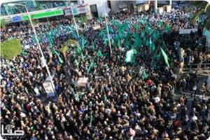 Photo of Hamas' triumphant rallies in the West Bank