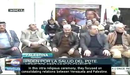 palestinian pray for chavez