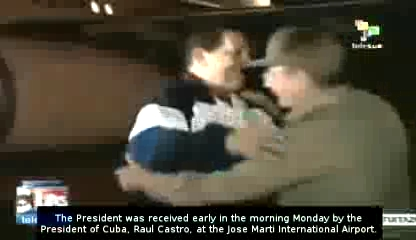 Photo of Video- Raol Castro Welcome Man of Freedom Chavez