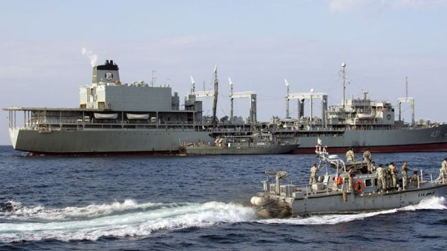 Iran's 24th fleet leaves southern port for international waters