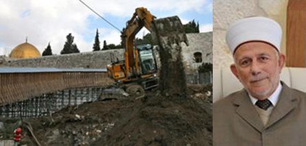Salhab warns of ongoing Israeli excavations under Al Aqsa