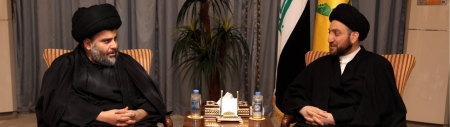 Photo of Sayyid Ammar al-Hakim welcomes Sayyid Muqtada al-Sadr, discusses with him the latest country developments