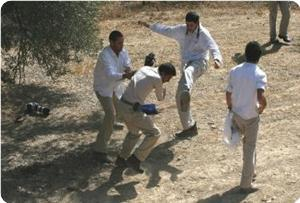Photo of Zionist Settlers attack a citizen from Qaryut in Nablus