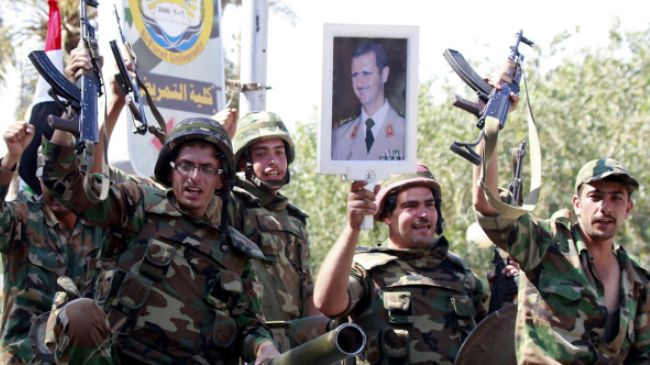 Syrian army pounds militant positions in Damascus province
