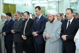 Photo of Video- Assad attended celebration Birth of Prophet Mohammad (pbuh) with scholars