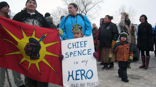 Photo of Canada's First Nations stand up for their rights at demos