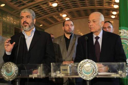 Photo of HAMAS Leader Meshaal meets Al-Arabi in Cairo