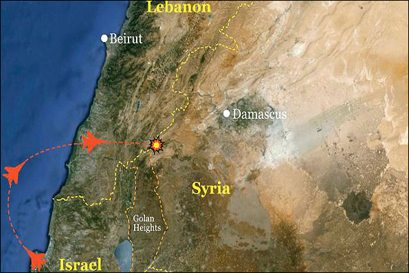 Details of Israeli airstrike on Syria