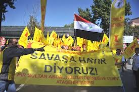 Photo of Protest in Ankara against Deployment of Patriot Missiles